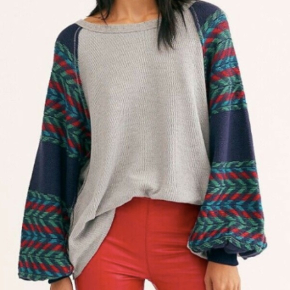 We The Free Rainbow Balloon Sleeve Thermal Size S